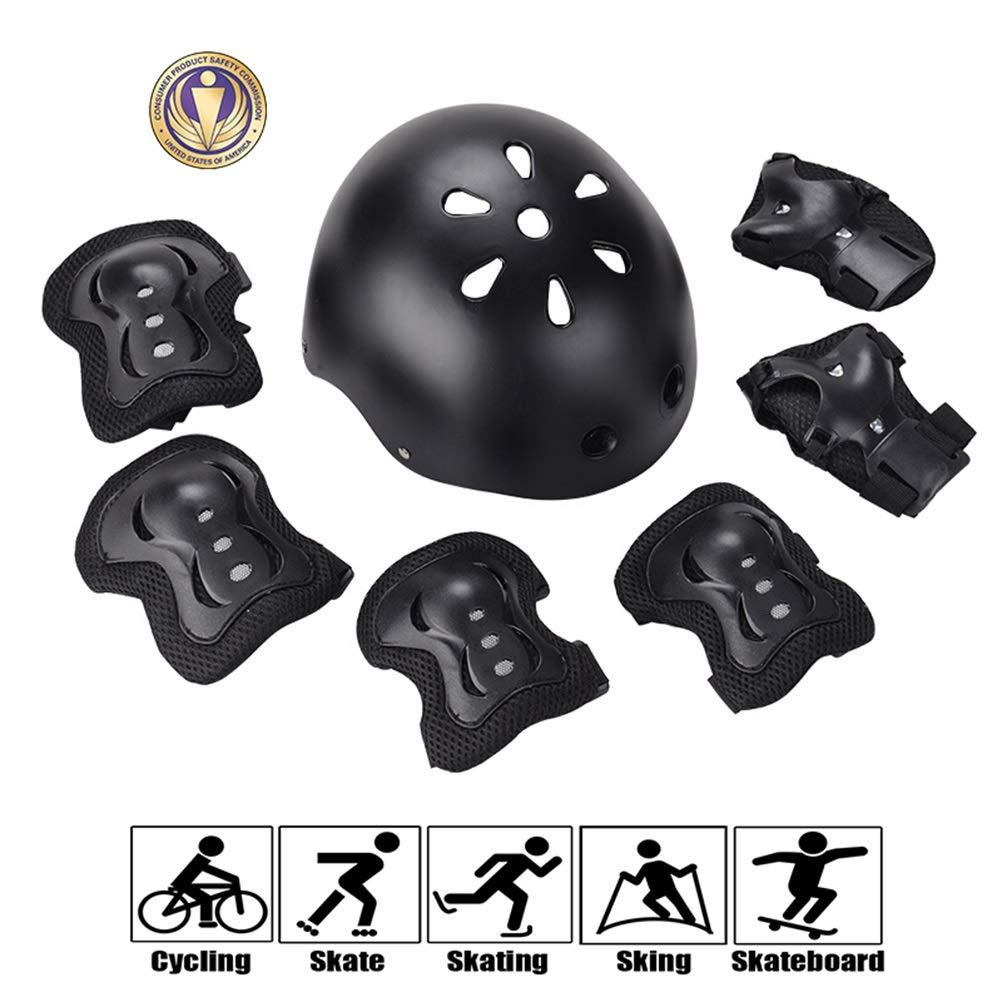 GYL-JL Protective Gear for Kids Helmet Pads Set Black