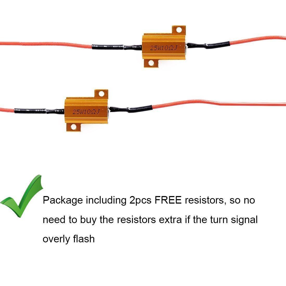 Luz el/éctrica lateral /ámbar LED frontal Fender Flares a su vez indicador de se/ñal L/ámpara de luz bombilla lente JK 2 pcs Garant/ía de un a/ño