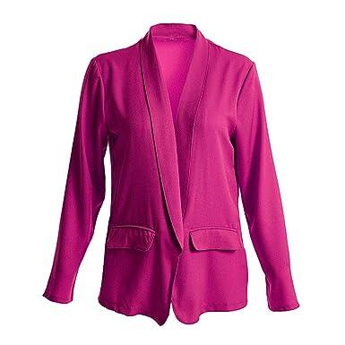 Blazer für Damen Jacke Open Front Lang Cardigan Premium