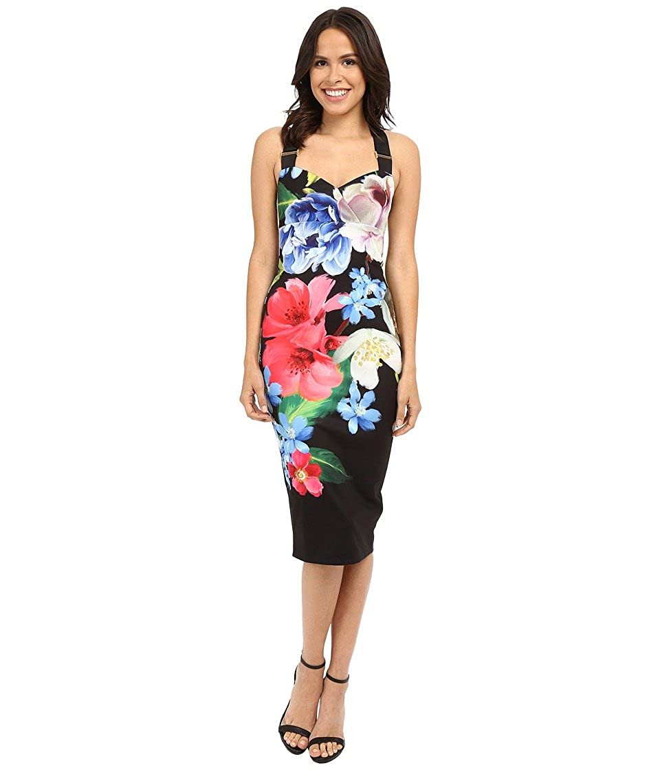Ted Baker Alexie Forget Me Not Midi Vestido para Mujer - Negro ...