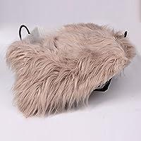 Baby Photo Blanket Long Hair,Photography Wrap Shaggy Area Rug,Newborn Soft Faux Fur Mat,Basket Stuffer Rug Background…