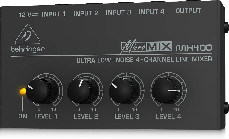 BEHRINGER MX400 - Mesa mezclas Behringer Micromix400: Amazon.es ...