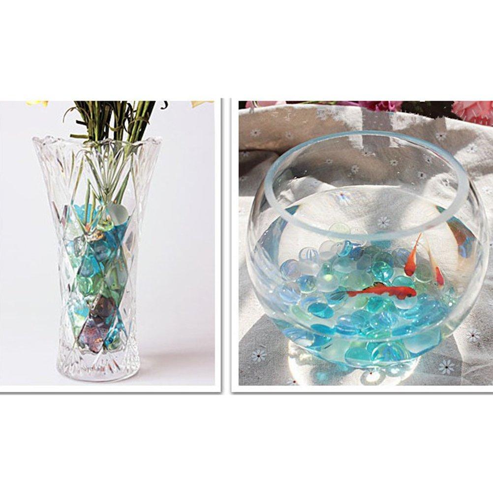 vorcool 400/g multicolores verre pierres pr/écieuses perles verre plat pour vase D/écoration pour aquarium et artisanat Bleu clair