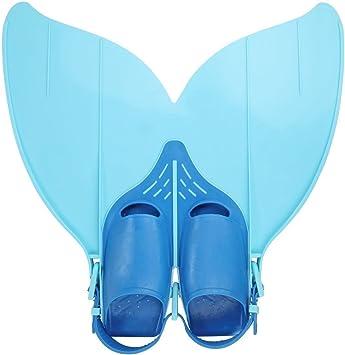 para la pr/áctica de la nataci/ón talla 34-40 dise/ño de sirena Yosoo Aleta para ambos pies para adolescentes y ni/ños