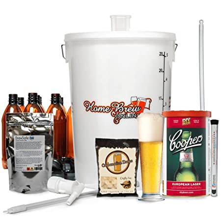 687c68b4c1eb Home Brew Online Complete Starter Kit - With Coopers European Lager ...
