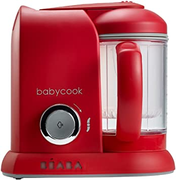 Béaba Babycook Solo ROJO - Robot de cocina 4-en-1 (UK IMPORT): Amazon.es: Electrónica