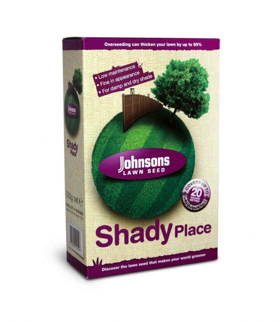 Without Ryegrass Johnsons Lawn Seed Shady Place 500g Carton