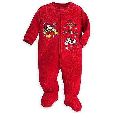 7e9899374 Amazon.com  Disney Mickey Minnie Mouse Baby s 1st Christmas Sleeper ...