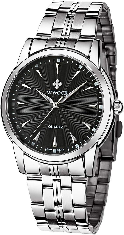 Men's Watches Analog Quartz Gold Stainless Steel Watches for Men Fashion Wristwatch Waterproof Watch