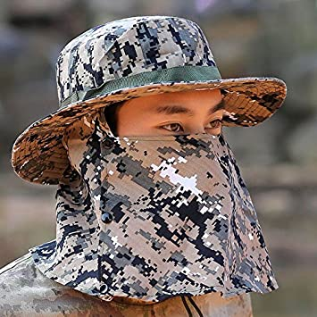 faf34217adc VT BigHome Sports Visor Caps Men s Outdoor Recreational Bucket Hats Leisure  Camouflage Sun Hat Military Tactical Full Protective Cap  Amazon.ca  Home    ...
