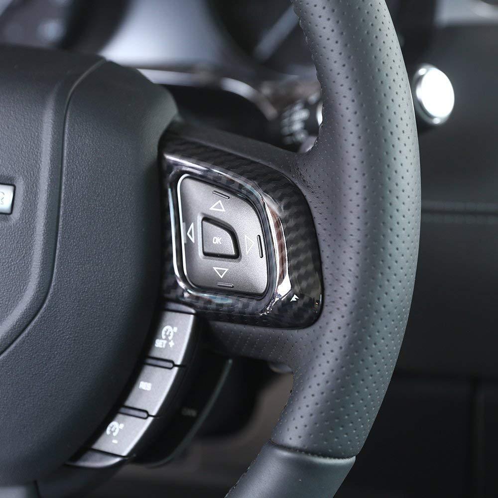 Volante in plastica cromata ABS Accessori per auto per Trim Frame per fibra di carbonio Evoque Auto-broy