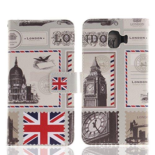 J4 Etui Cuir Bonroy Pour Samsung Enveloppe Galaxy Coque J4 En Housse Hibou Portefeuille Case peint London Flip Premium Painted 7wOwqPYpR