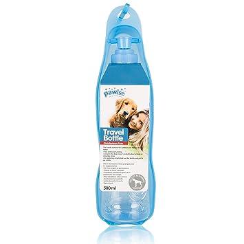 Botella de agua BIGWING Style Suministros de Alimentación y Agua Botella Portátil Fuentes de Agua Potable para Mascota Gato Animales con Gancho Dispensador ...