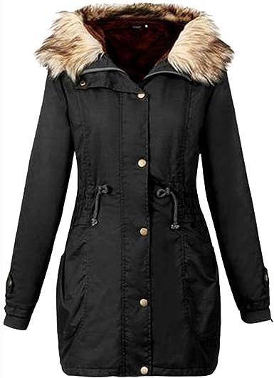 iYBUIA Autumn Winter Women Solid Hooded Long Coat Jacket Hoodies Parka Outwear Cardigan Coat