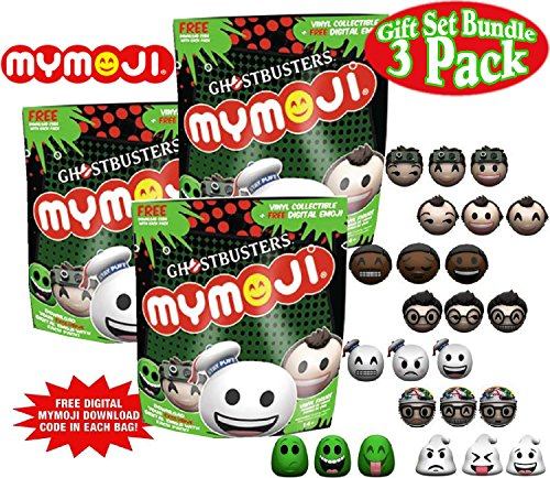 Funko Ghostbusters Mymoji Mini Vinyl Action Figure Mystery Blind Bags Gift Set Party Bundle - 3 Pack (Ghostbusters Party Favors)