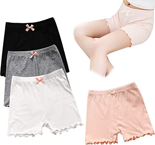 Play or Under Skirts 2-10 Years Auranso Girls Bike Dance Shorts 6 Pack Toddler Kids Breathable and Safety Dress Undershorts for Girls Sports