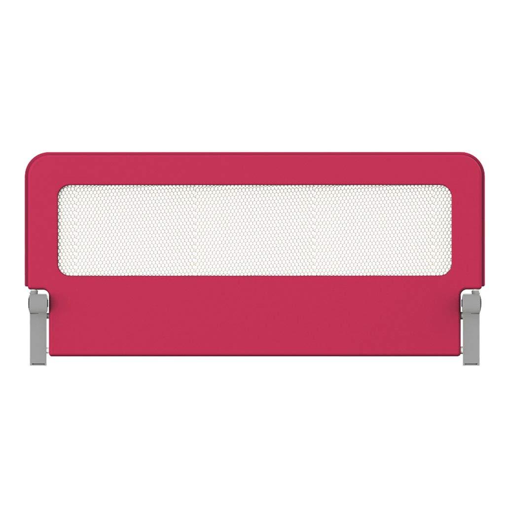 ベッドレール - 幼児用換気メッシュ付きシングル折りたたみ式セーフティベッドレール - 子供用クイーンサイズベッドガード、2色、フルサイズ 150cm(59 inch) Red B07RBRPJSR