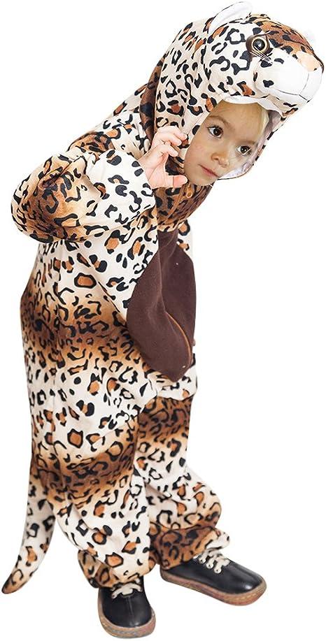 Ikumaal F128 Leopard Disfraz, Tamaño 8-9 años, Disfraz Disfraces ...