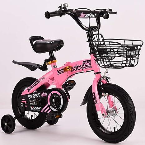L.tsn Bici del Niño Plegable Bicicleta Seguro Ajustable 14 ...
