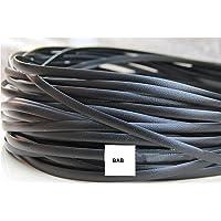 CoolsomeJies Synthetic Rattan Repair Material,Black synthetic plastic rattan plastic rattan for knit and repair chair…