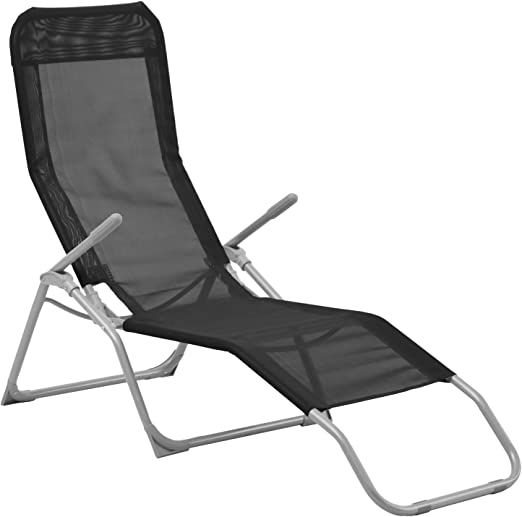 Coté détente Transat/Chaise Longue Siesta – Negro: Amazon.es: Jardín