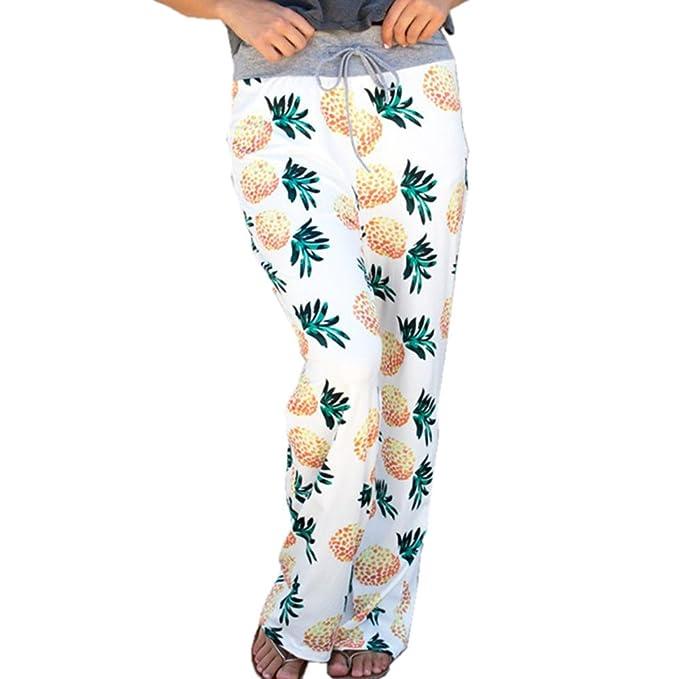 12cf970944dbe Newbestyle Women High Waist Casual Comfy Soft Stretch Floral Print  Drawstring Wide Leg Boho Palazzo Pants Lounge Plus Size  Amazon.ca   Clothing   ...