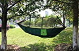 Everking Double Camping Hammocks with Mosquito Net,Lightweight Parachute Nylon Fabric Double Hammock For Outdoor Travel Camping Hiking Backpacking Backyard (green)