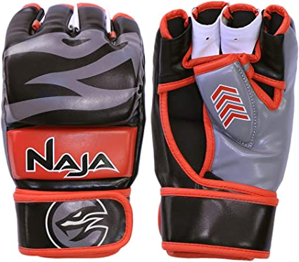 Sparring Grappling UFC Gloves MMA Fighting Punch PU Leather Bag Mitts Ultimate