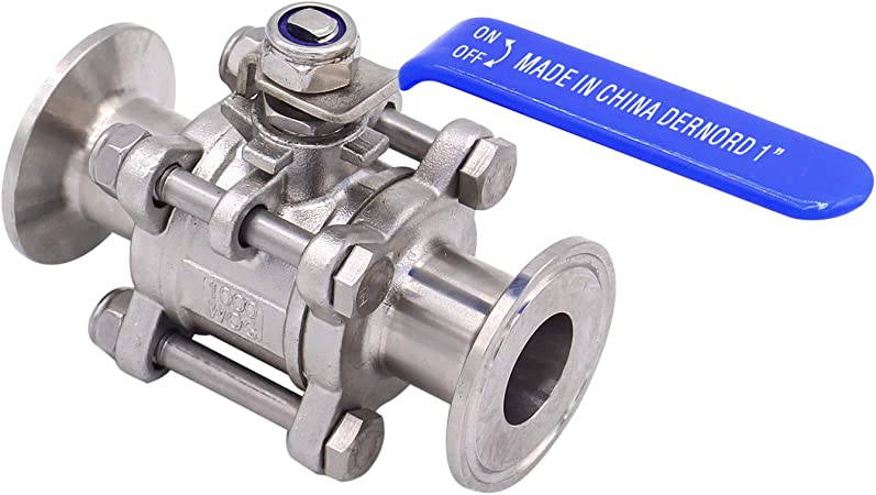 no-branded Sanitary Tri Clamp Ball Valve 1//2 3//4 1 1-1//4 1.5 2 Stainless Steel Brewing Ball Valve for Homebrew Valve ZYUS Color : Silver, Size : OD38 Clamp 50.5