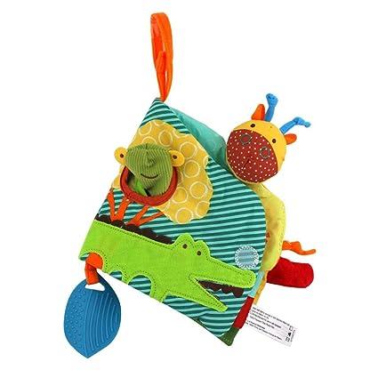 Haodene Livre En Tissu Pour Bebe Jeu Educatif 3d Colore