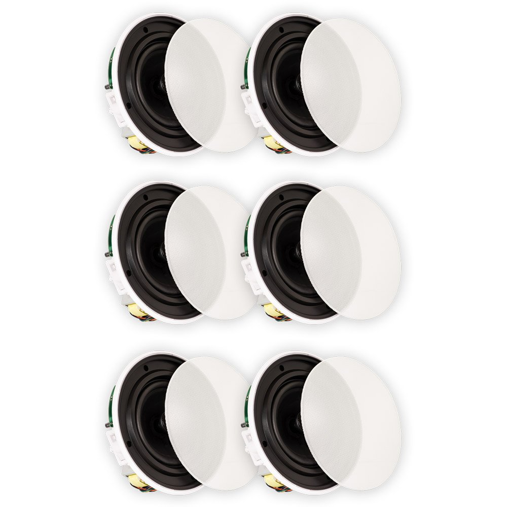 Theater Solutions TSQ670 In Ceiling 70 Volt 6.5'' Speakers Quick Install 3 Pair Pack 3TSQ670