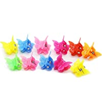 HUELE 100 Pack of Assorted Color Butterfly Hair Clips, Bulk Small Butterfly Hair Clips