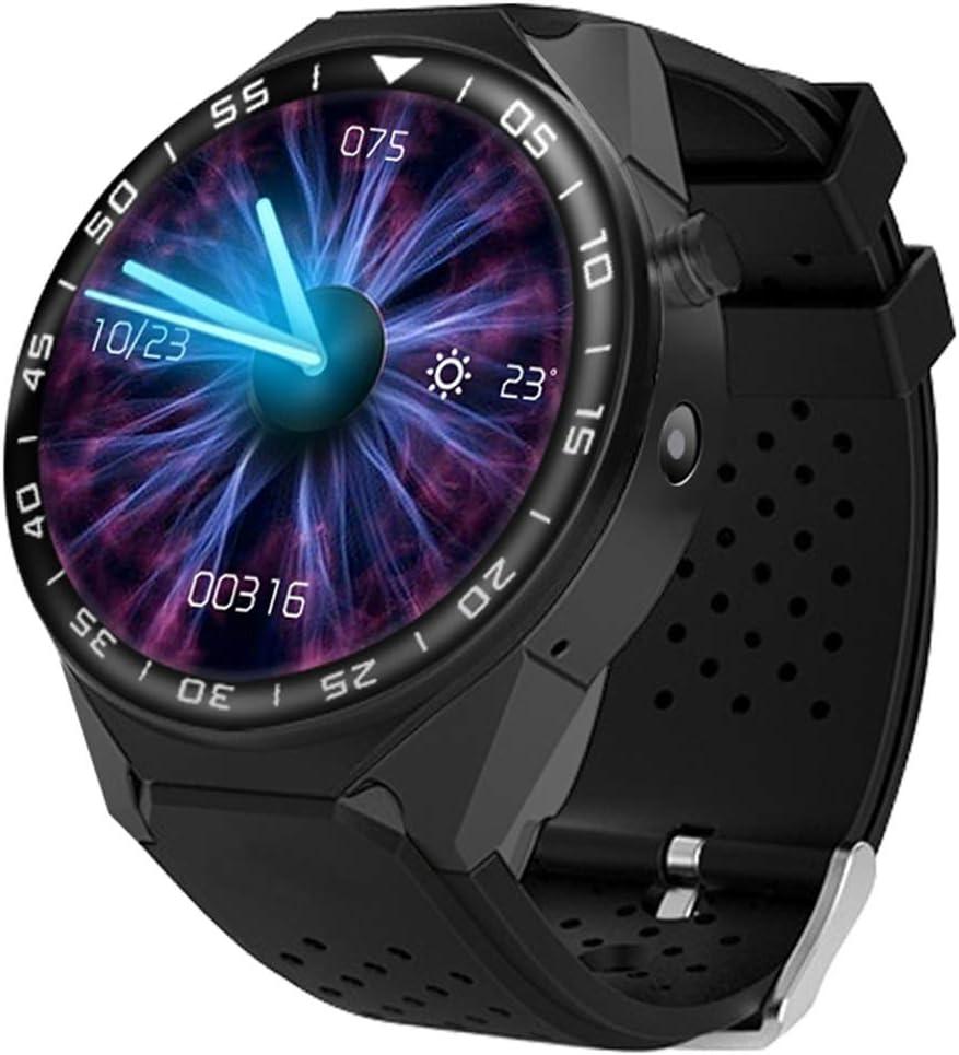 ZLI Reloj Inteligente Bluetooth con GPS/WiFi Incorporado Cámara con Tarjeta SIM, Rastreador De Estado Físico Avanzado con Monitor De Frecuencia Cardíaca para Mujeres, Hombres Y Ancianos,A