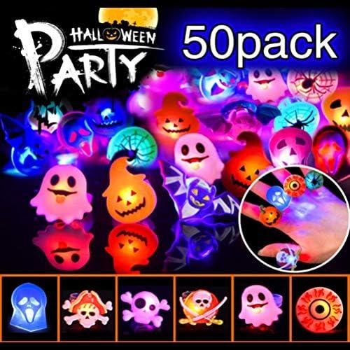 24pcs Blinkende Ringe Party Accessoires LED Ring leuchtende Ringe Fingerlicht