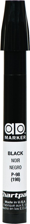 The Original Chartpak AD Marker, Tri-Nib, Black, 1 Each (P98)
