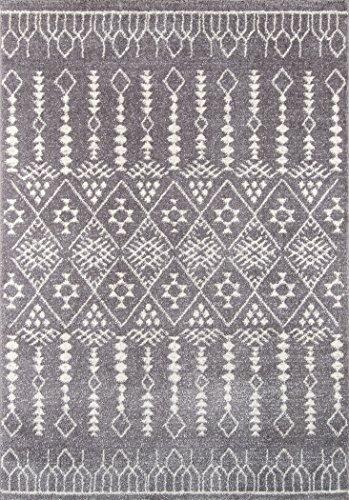 Momeni Rugs LIMA0LI-11GRY5376 Lima Collection Contemporary Area Rug, 5'3