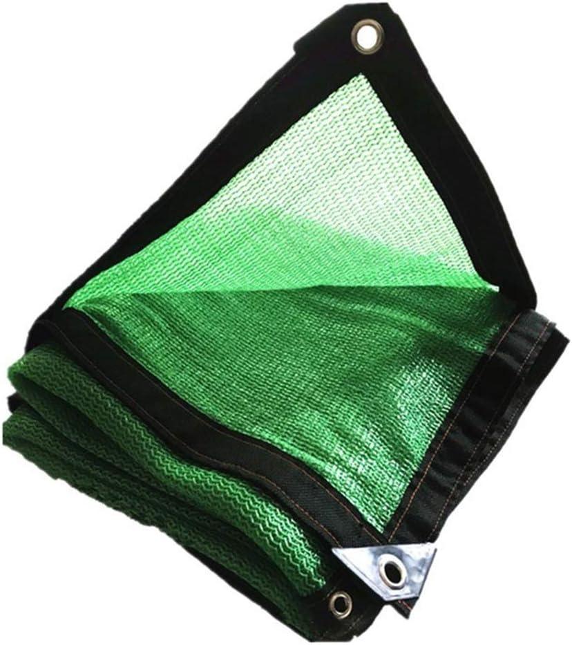 遮光網 85% シェーディング率 緑 エッジパンチ 厚くする 暗号化 バルコニー パティオ ルーフ 車、 23サイズ 縦断勾配 E (Color : 緑, Size : 8x10m) 緑 8x10m