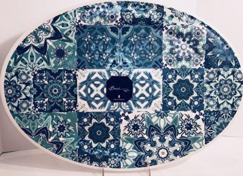 Baci-Milano Melamine Oval Serving Platter - 14