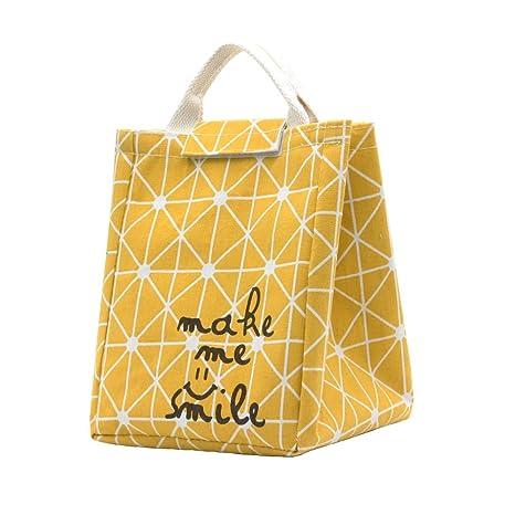 Amazon.com: Mziart Bolsa de almuerzo reutilizable, bolsa de ...