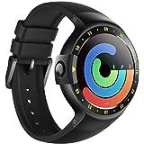 Ticwatch S スマートウォッチ Wear OS by Google 最快適 Smartwatch OLEDスクリーン iOSとAndroid対応 心拍数 GPS内蔵 Googleアシスタント搭载 ブラック