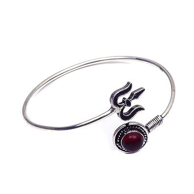 2ed43199b0 ... nimbark red garnet quartz shiva hindus s lord trishul sign adjule  bracelet online at low prices ...