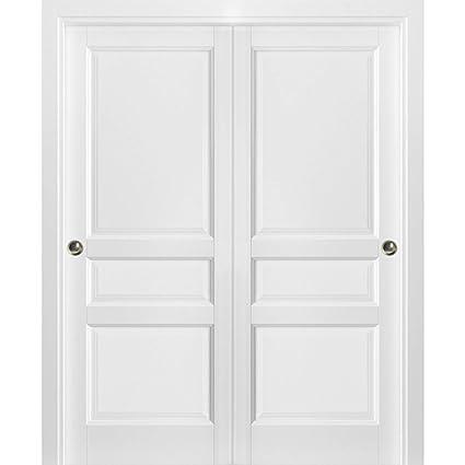 Sliding Closet Bypass Doors 72 x 80 with Hardware   Lucia 31 ...