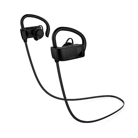 Aukey Auriculares deportivos Bluetooth 4.1 Auricular con gancho de ...