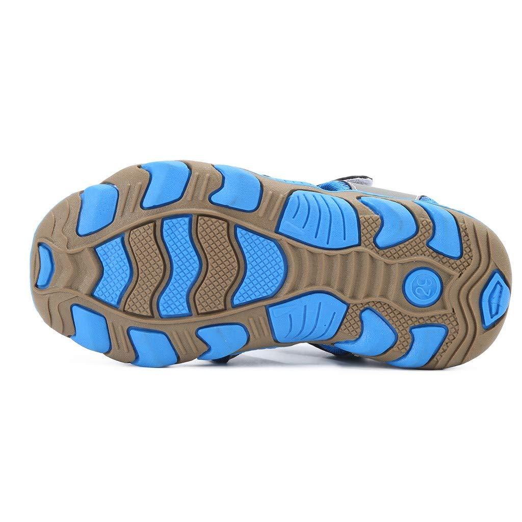 Sandales Mixte Enfants Plage Sports Outdoor Sandales Chaussures de Trekking Chaussures Bout Ferm/é D/ét/é Loisirs Confort Fille Gar/çon Sandales Antid/érapantes 4-15ans BaZhaHei