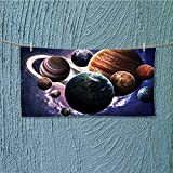 alsoeasy Swim Towel Solar System Planets All Together in Mercury Jupiter Globe Saturn Universe Super Soft L35.4 x W11.8 inch