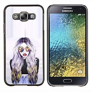 Gafas de sol Mujer Diseño Arte- Metal de aluminio y de plástico duro Caja del teléfono - Negro - Samsung Galaxy E5 / SM-E500