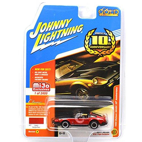 Johnny Lightning Datsun 280ZX 1980 Red 10th Anniversary JLCP7006 1//64