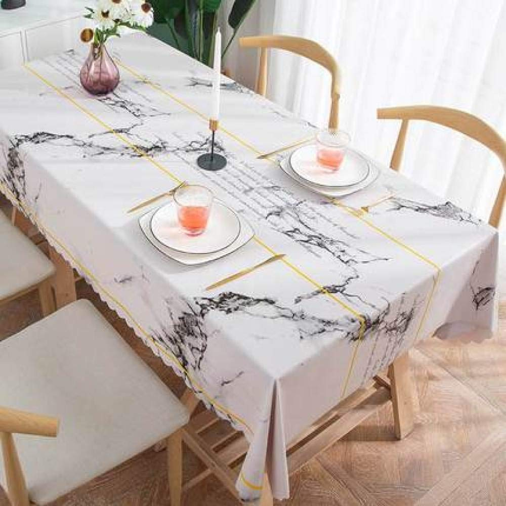 WJJYTX Plastic Tablecloth Wipe clea,Square Plastic Table Cloth Protector Oil/Vinyl Cloth All Occasions Table Ware corrugated-120 * 170_A