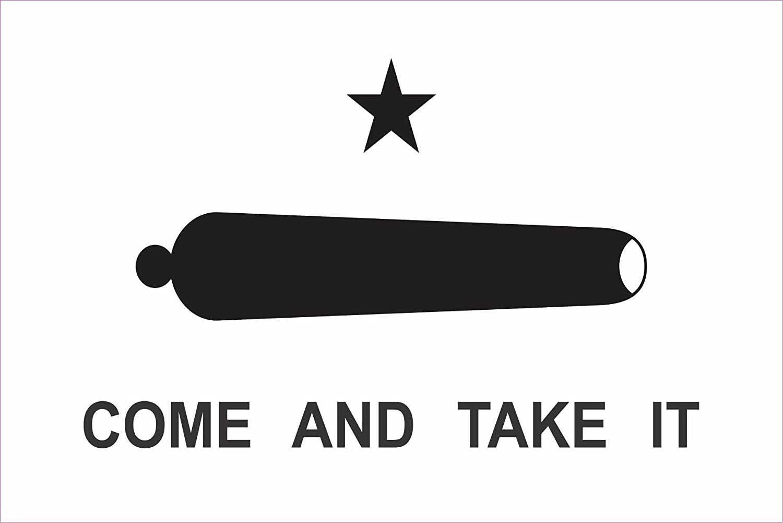 """Gonzales Come And Take It vinyl decal sticker molon labe america gun 8/"""" x 5/"""""""