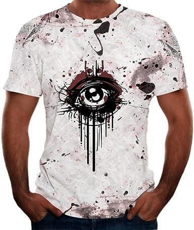 HYTR 3D Camisetas Hombres Funny Anime Camisetas Globo 3D ...